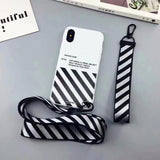 OFF WHITE Zebra Soft TPU Case For iphone