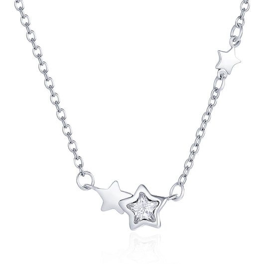 Double Sparkling Star Pendant Necklaces