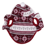 Christmas Soft Winter Warm Pet Clothes Cozy Snowflake