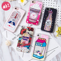 AKI Glitter Liquid Quicksand Phone Cases