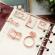 Rose Gold Paper Clips Bookmark