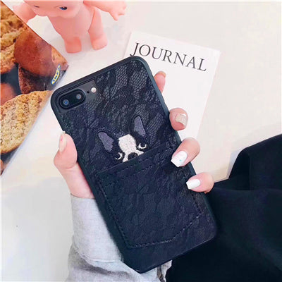 Cute Dog in the pocket lace phone cover