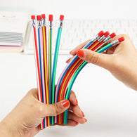 5PCS Colorful Magic Bendy Flexible Soft Pencil with Eraser