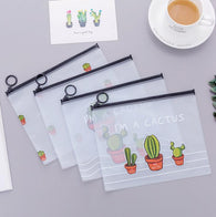 Cactus Dull Polish Transparent File Folder