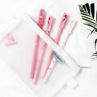 2 pcs/pack Lovely Flamingo Couple Gel Pen