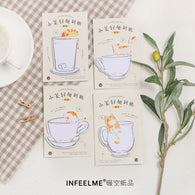 Beauty Cup Cat Infeel Me Memo Pad