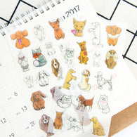 6 pcs/pack Lovely Family Pet Stickers Set