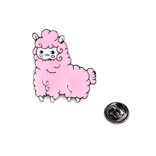 2pcs/set Lovely Alpaca Brooch