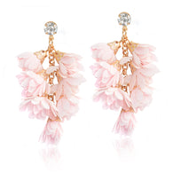 Romantic Flowers Tassels Drop Earrings