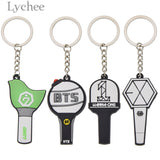 Silicone Kpop Light Stick Keychain