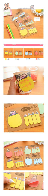 Animal Shape Emotion Icon Decoration Memo Pad