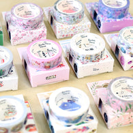 15mm X 7m Cute Lotkawaii Flower food animals  Decorative Washi Tape
