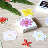 Creative Kawaii Animals Plants Scene Mini Sticker