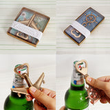 """Let The Adventure Begin""  Antique Airplane Type Beer Bottle Opener"