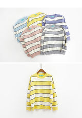 Pastel Striped Knitted Sweater