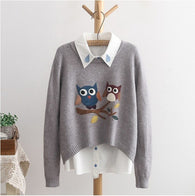 Two Owls Knitted Sweater