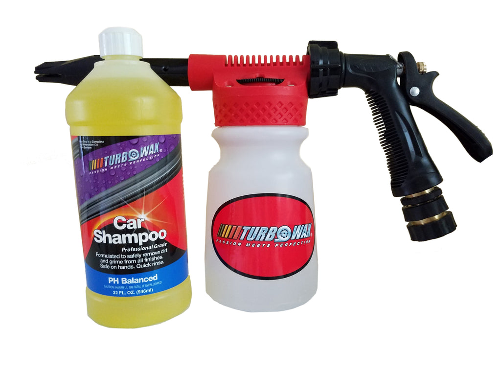 Turbo Wax Foam Gun and Turbo Wax Shampoo Professional Grade Combo - Turbo Wax Products