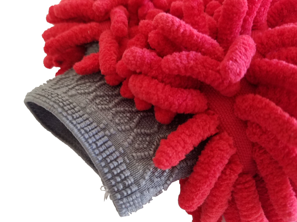 The Turbo Wax Chenille Microfiber Wash Mitt