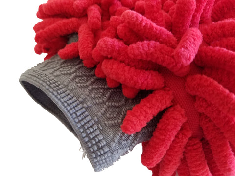 The Turbo Wax Chenille Microfiber Wash Mitt - Turbo Wax Products