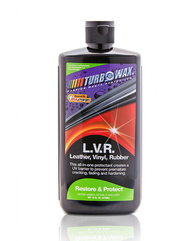 Turbo Wax Leather, Vinyl, And Rubber (L.V.R) With Polycharger - 16 OZ - Turbo Wax Products