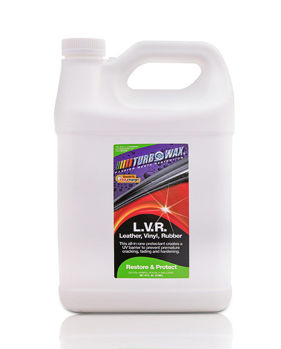 Turbo Wax Leather, Vinyl, And Rubber (L.V.R) With Polycharger - 1 Gallon - Turbo Wax Products