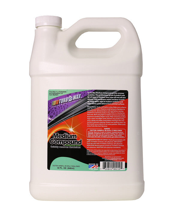 Turbo Wax Medium Cut Compound (1 Gallon) - Turbo Wax Products