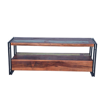 Back view of Rustic TV Stand