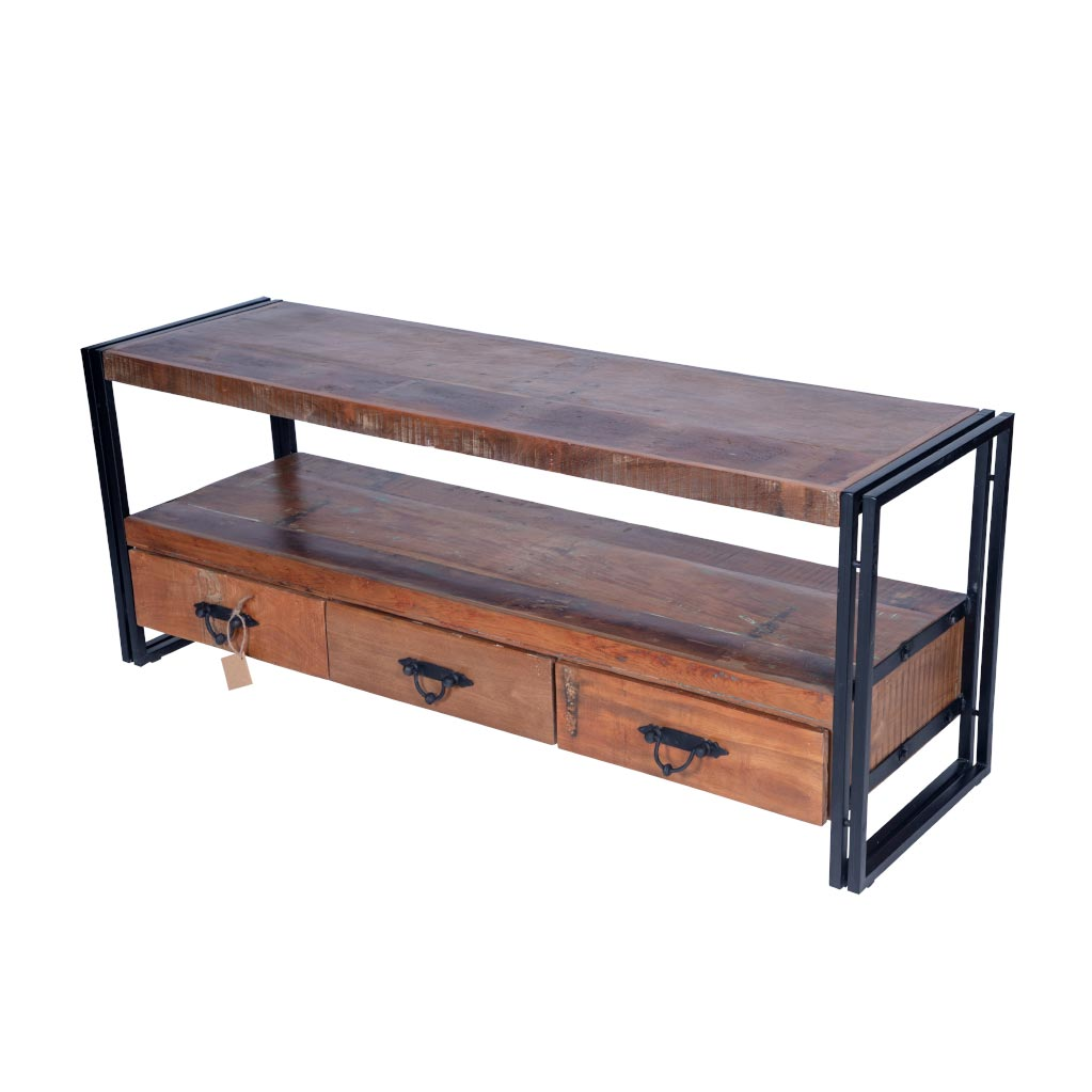 Maadze 3 Drawer Industrial TV Stand - Maadze