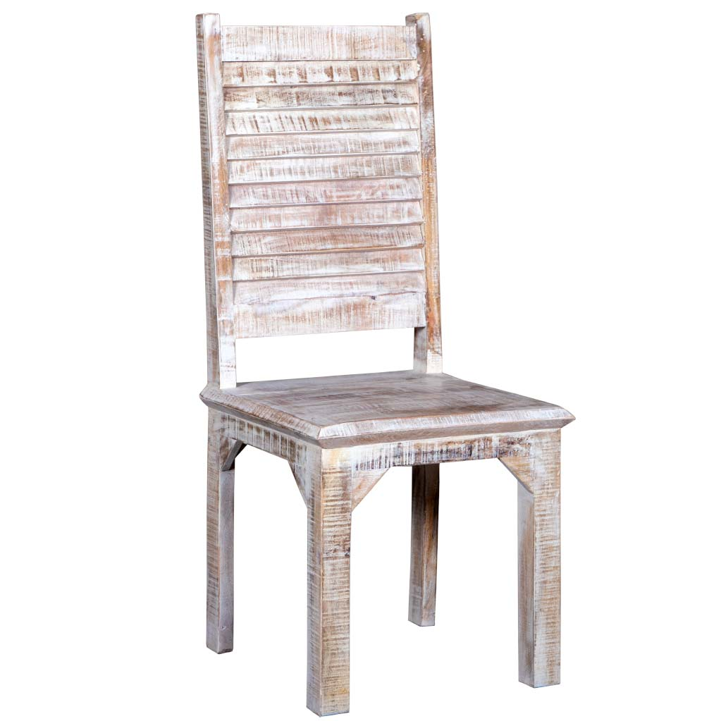 Maadze Set of 2 White Rustic Chair - Maadze