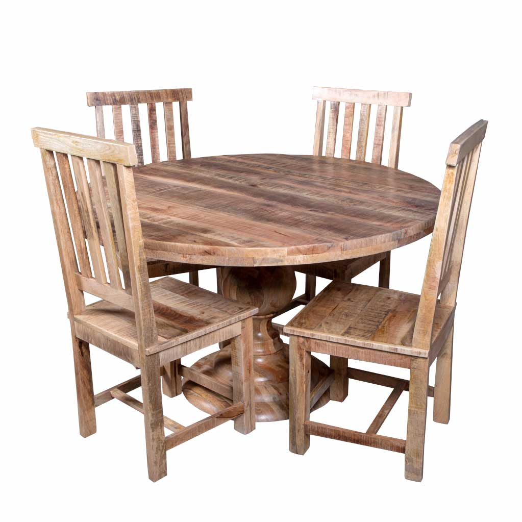 Maadze 5 Piece Round Dining Table Set - Maadze