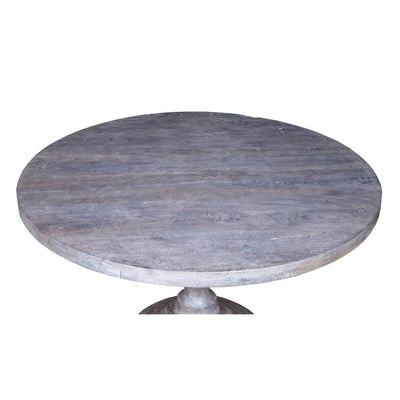 Top of  White Round Dining Table - Maadze