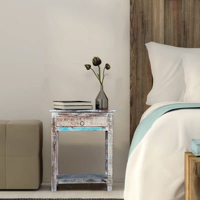 Maadze White Bedside Tables | End Table