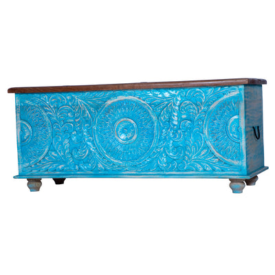 "Maadze Distressed Trunk ""Pure Blue"""