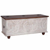 "Maadze White Wooden Trunk Box ""Snow"""