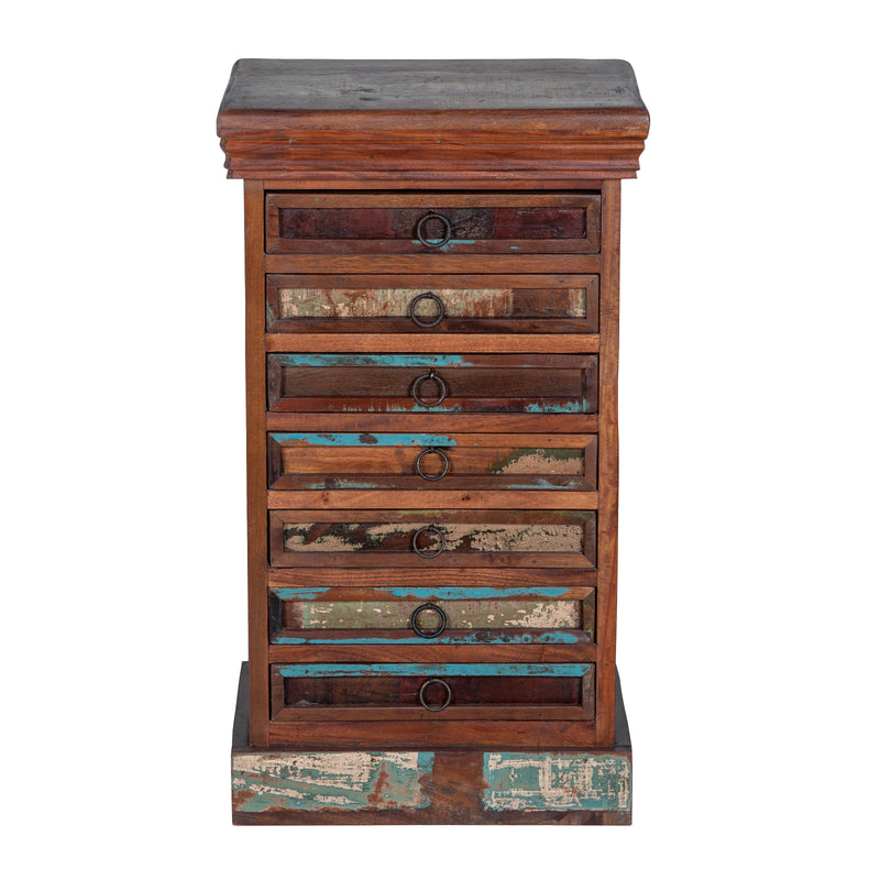 Maadze Rustic 7 Drawer Jewelry Armoire