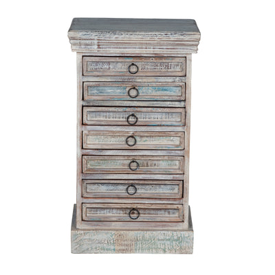 Maadze White Jewelry Armoire with Drawers