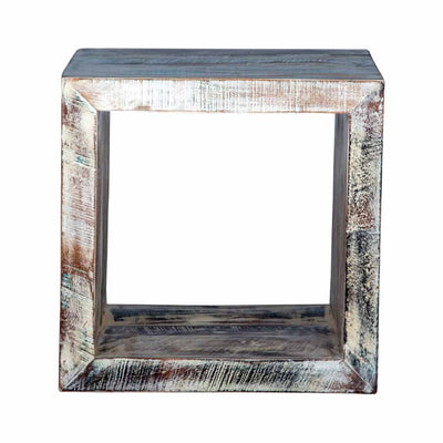 Maadze White Cube End Table - Maadze