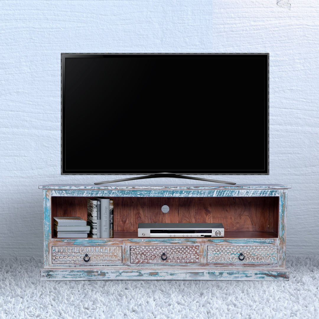 Maadze Rustic Distressed Media console