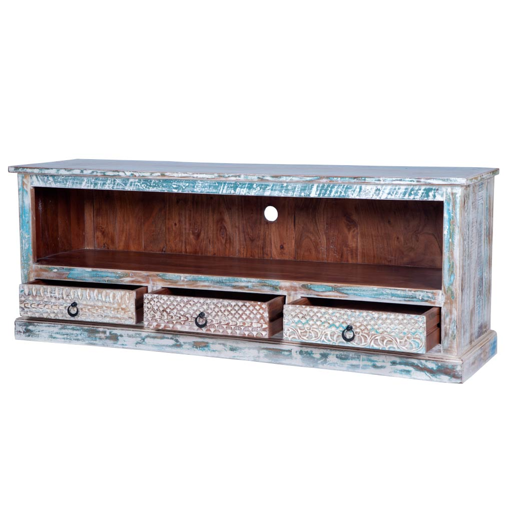 Maadze Rustic Distressed Media console - Maadze