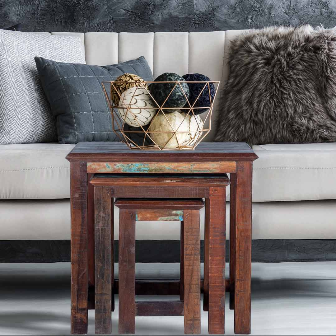 Reclaimed Nesting Tables