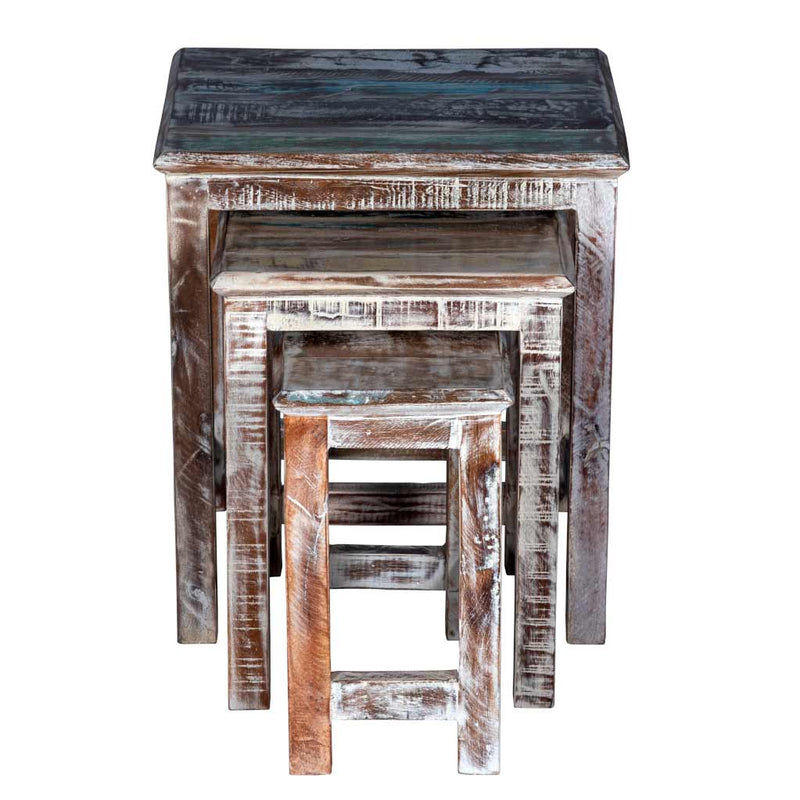 Rustic White Nesting Tables