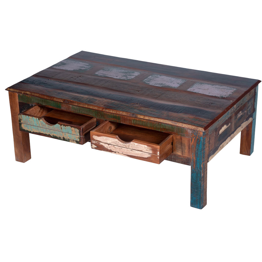 - Maadze Rustic Coffee Table With Storage