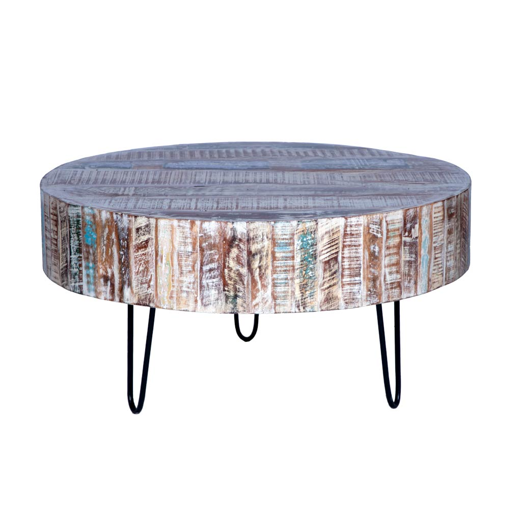 Round Coffee Table with Hairpin Legs | Maadze - Maadze