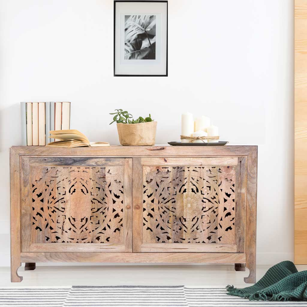 "Maadze Carved Sideboard Buffet ""Muse"""