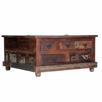 Maadze Rustic Trunk Coffee table with drawers