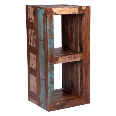 Maadze Rustic Cube Side Table