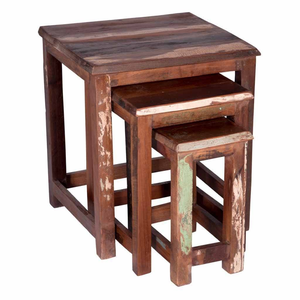 Maadze Reclaimed Wood Nesting Tables