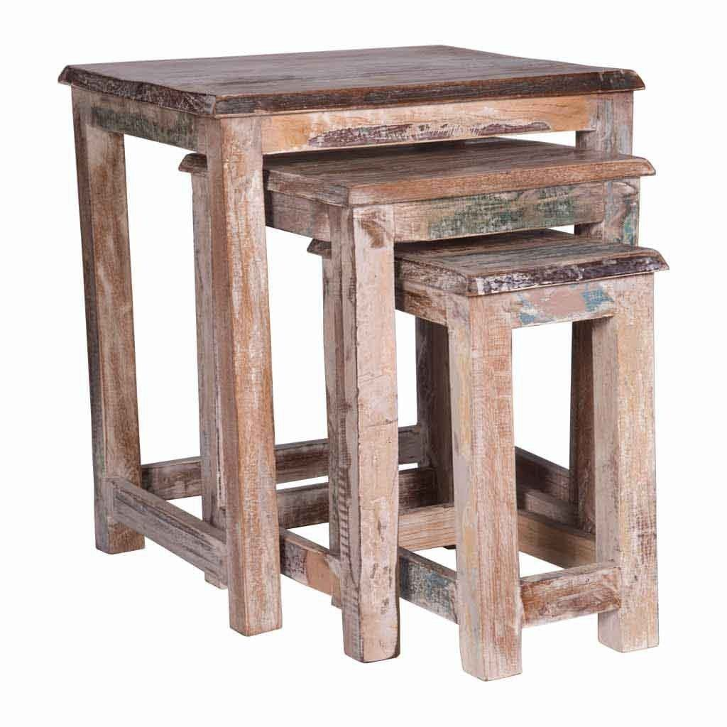 White washed Nesting Tables