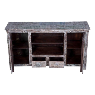 maadze distressed wood center rustic tv stand - Distressed Tv Stand