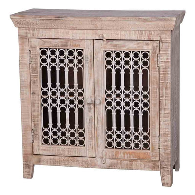 Maadze Storage Cabinet with Iron Jali Doors - Maadze